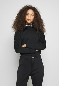 Missguided Petite - Camiseta de manga larga - black - 0
