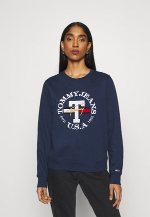REGULAR TWISTED LOGO CREW - Sweatshirt - twilight navy