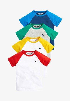 MULTI 4 PACK RAGLAN SLEEVE T-SHIRTS (3MTHS-7YRS) - Print T-shirt - white