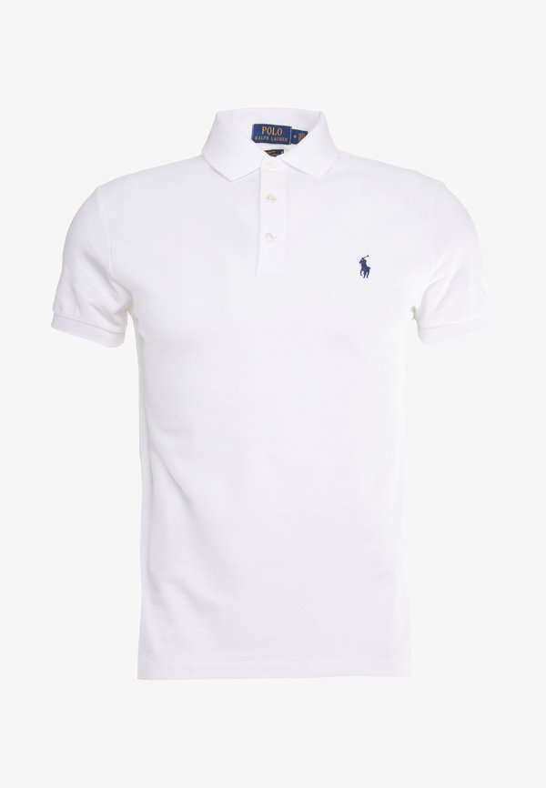 Polo Ralph Lauren SLIM FIT MODEL - Koszulka polo - white/biały Odzież Męska PMXK