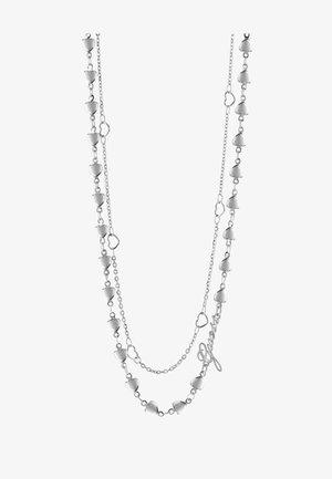 SHINE ON ME MULTI-HERZEN - Necklace - silver-coloured