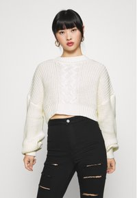 Missguided Petite - CROPPED - Jumper - off white - 0