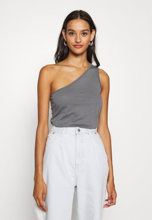 ONE SHOULDER - Top - gray
