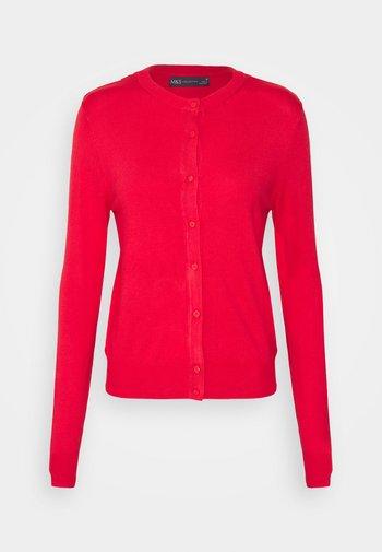 CREW CARDI PLAIN - Cardigan - red