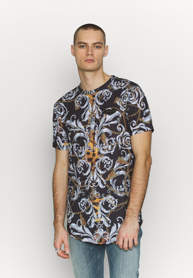 Supply & Demand - JUNGLE IN BAROQUE - T-shirt con stampa - black/gold