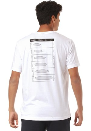 SURFBOARD TYPES - Print T-shirt - white