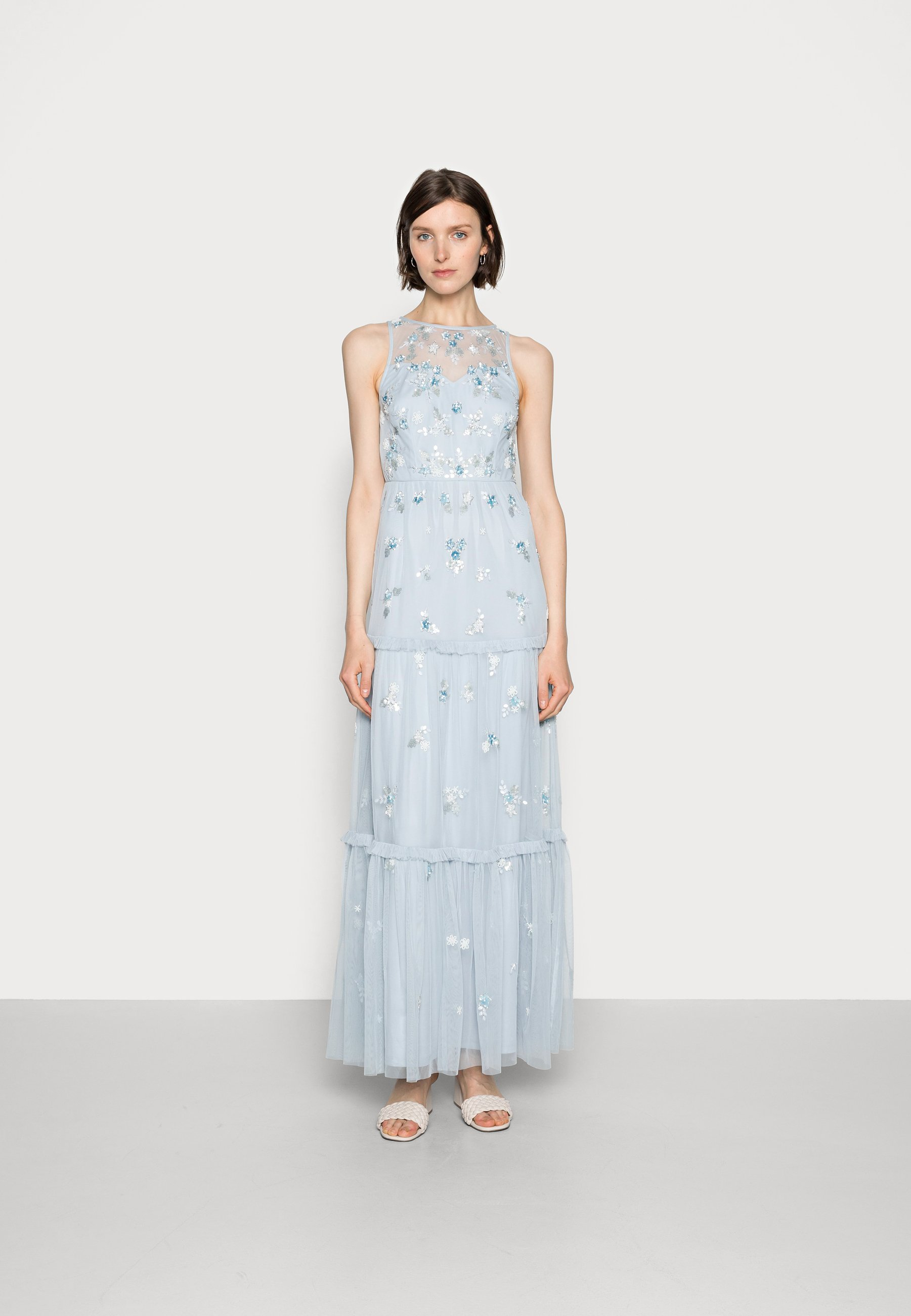 Women BEADED TIERED GOWN - Occasion wear