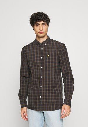CHECK SHIRT - Overhemd - dark navy/ olive