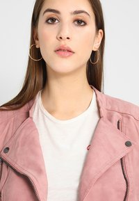 ONLY - ONLAVA BIKER  - Faux leather jacket - ash rose - 3