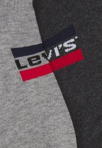 Levi's® - LOW CUT LOGO 2 PACK UNISEX - Socks - middle grey melange/anthracite - 1