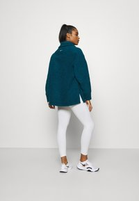 Nike Performance - COZY COWL - Fleece jumper - valerian blue heather/metallic silver - 2