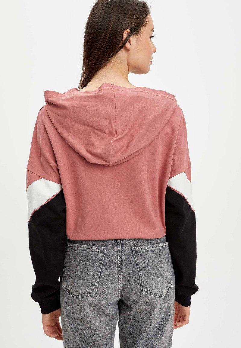 DeFacto Kapuzenpullover - bordeaux/pink meliert tiVUPv