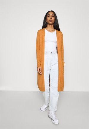 VIRIL LONG CARDIGAN  - Vest - pumpkin spice
