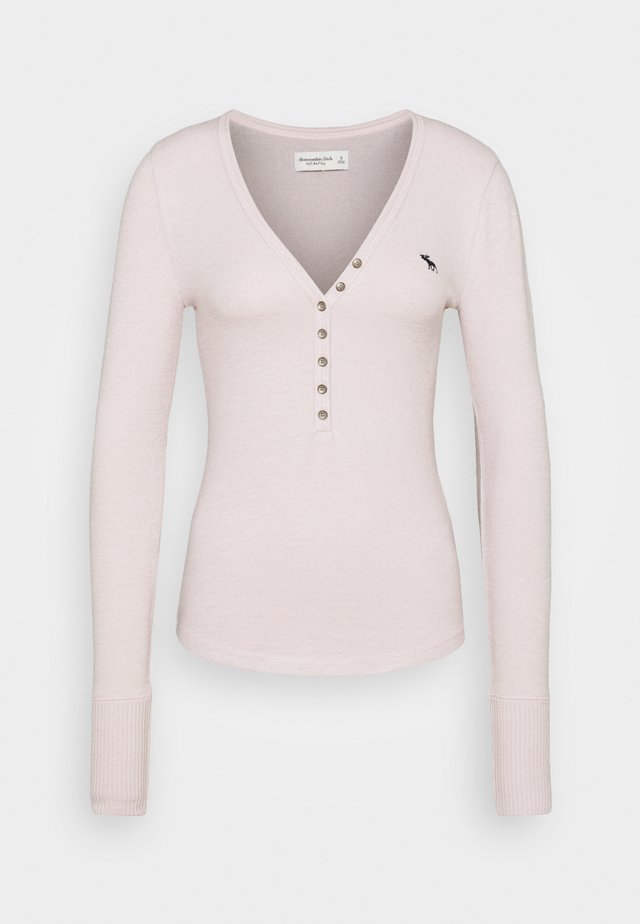 COZY HENLEY - Strickpullover - light pink