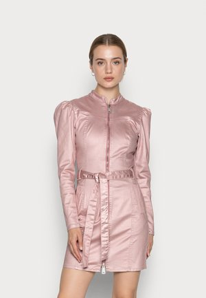 ROSE METALLIC DRESS - Denní šaty - rose smoke