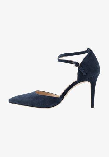 LEATHER PUMPS - High heels - dark blue