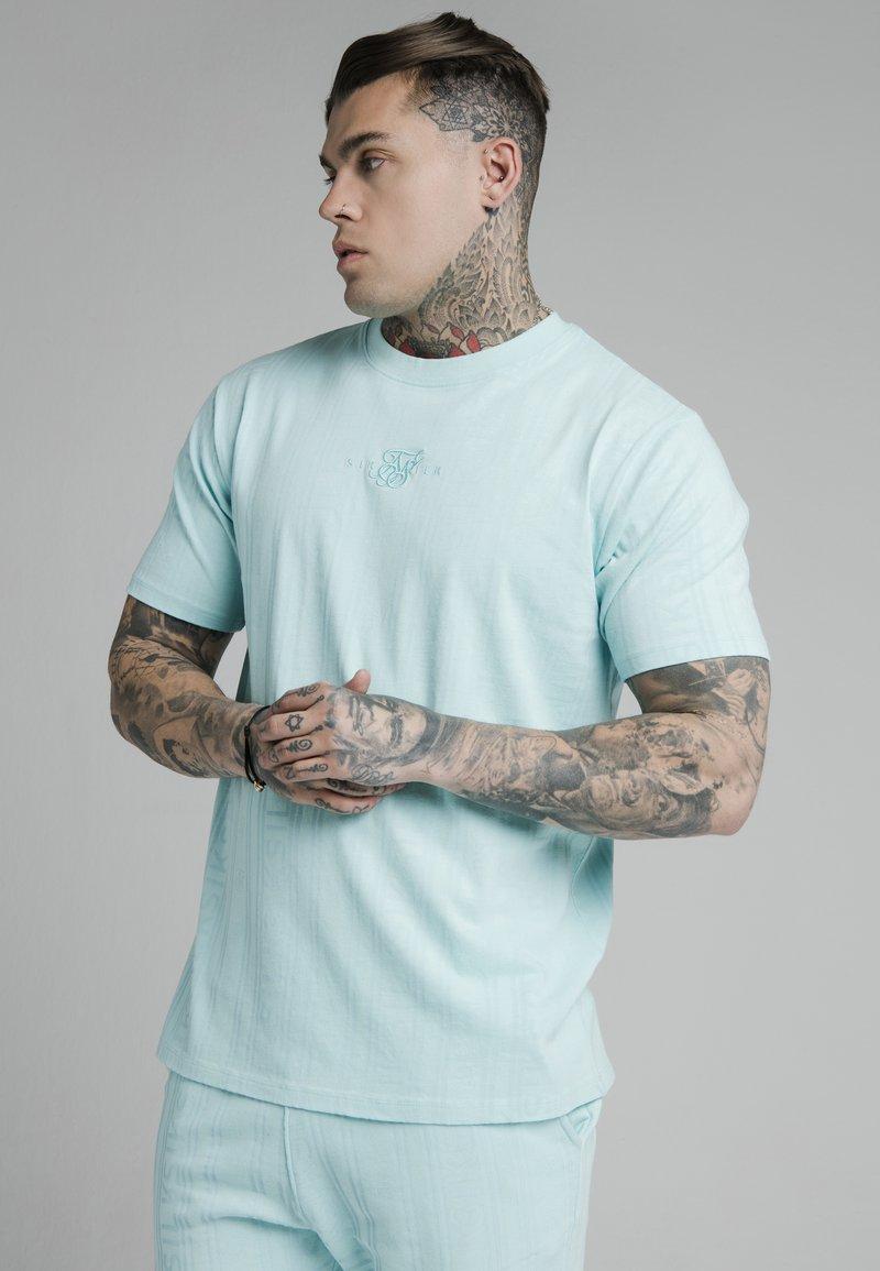 SIKSILK - STANDARD FIT TEE - Print T-shirt - blue