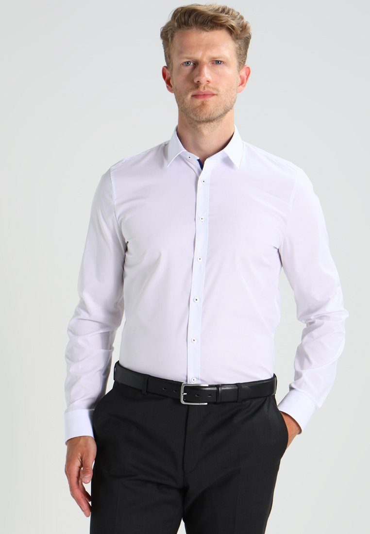OLYMP Level Five - SUPER SLIM FIT - Formální košile - weiß