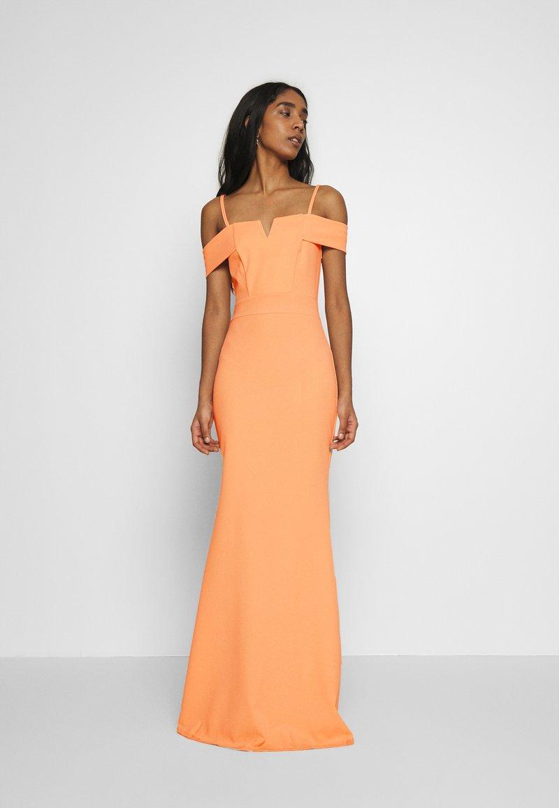 WAL G. - STRAPPY OFF THE SHOULDER DRESS - Suknia balowa - pale pink