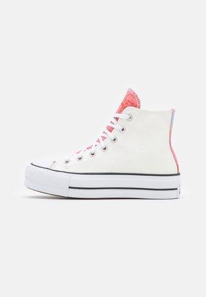 CHUCK TAYLOR ALL STAR PLATFORM GLITTER - Zapatillas altas - white/pink salt/black