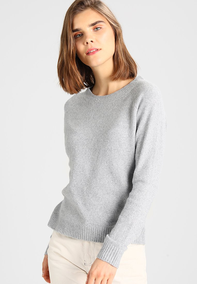 Vero Moda - VMDOFFY O NECK - Jumper - light grey melange
