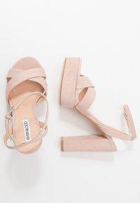 Even&Odd - LEATHER - Sandaler med høye hæler - nude - 3