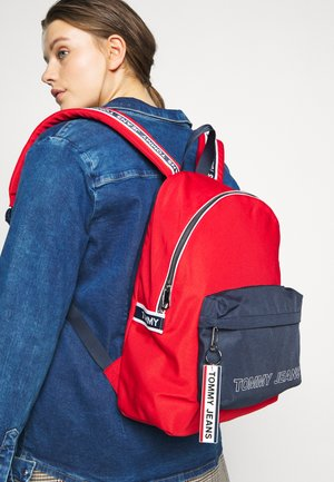 LOGO TAPE DOME BACKPACK - Rucksack - red/blue