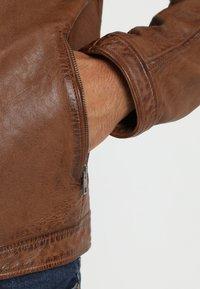 Oakwood - DRINK - Leather jacket - tan - 6