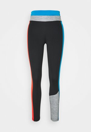 ONE 7/8 - Tights - black/light photo blue/chile red/black