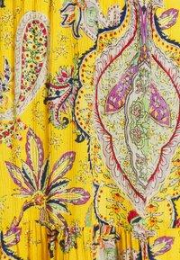Desigual - FLORENCIA - Maxi skirt - yellow - 5