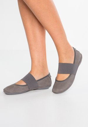 RIGHT NINA - Ankle strap ballet pumps - medium gray