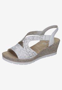Rieker - Wedge sandals - white - 1