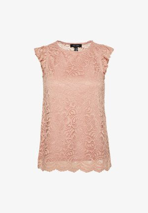 SCALLOP FRILL SHELL - Bluser - mid pink