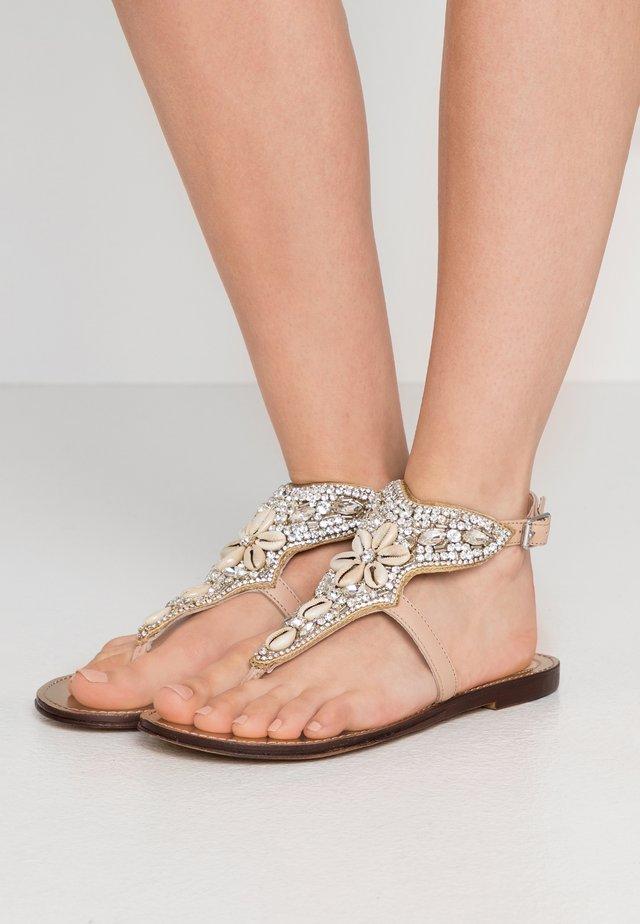 T-bar sandals - nougat