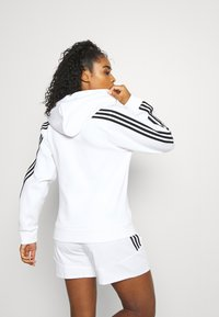 adidas Performance - FI 3-STRIPES FULL ZIP REG SPORTS FUTURE ICONS PRIMEGREEN TRACK TOP HOODIE - Zip-up sweatshirt - white - 2