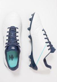 Umbro - MEDUSÆ III PRO FG - Moulded stud football boots - white/medieval blue/blue radiance - 1