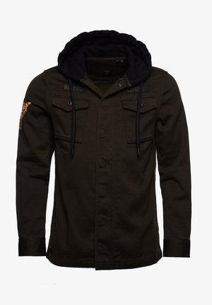 CORE MILITARY PATCHED - Zip-up hoodie - army green