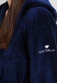TOM TAILOR - BASIC VELOURS - Župan - navy - 7