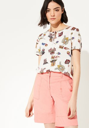 MIT ORNAMENT-MUSTER - Blouse - white floral print