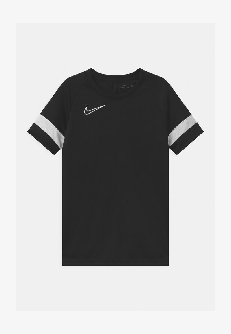 Nike Performance - ACADEMY UNISEX - Print T-shirt - black/white