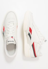 Reebok Classic - CLUB REVENGE - Trainers - chalk/vector red/true grey - 1