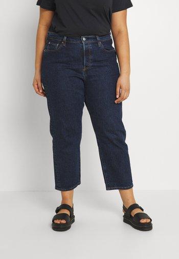 PL 501 CROP - Straight leg jeans - salsa stonewash