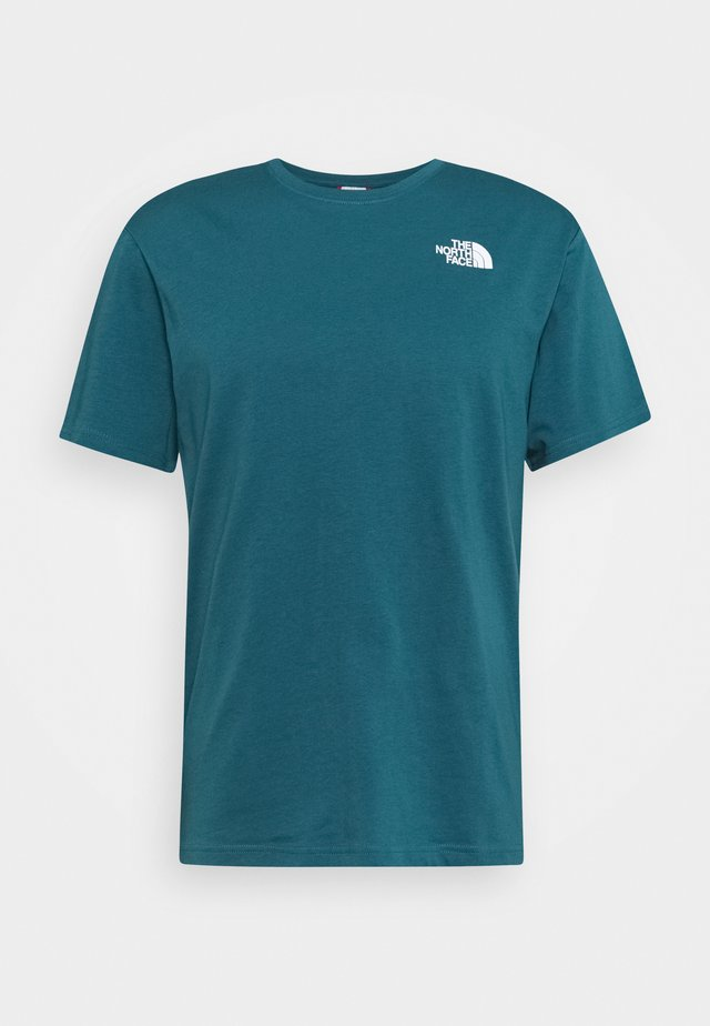 BOX TEE - T-shirts med print - teal