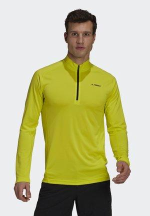 TERREX TRACEROCKER 1/2 ZIP LONGSLEEVE - Long sleeved top - acid yellow