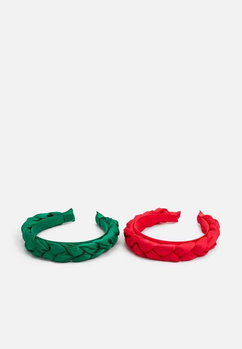 ONLY - ONLALBA BRAIDED HAIRBAND 2 PACK - Hair styling accessory - flame scarlet/jelly bean