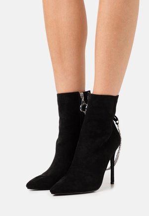 ROOKIE - High heeled ankle boots - black