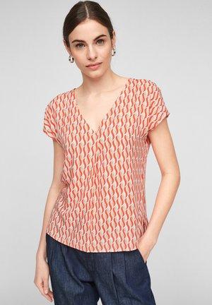 Print T-shirt - coral minimal