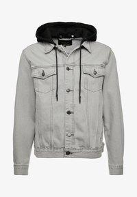 SIKSILK - WITH DETACHABLE HOOD - Denim jacket - grey - 3