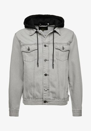 WITH DETACHABLE HOOD - Giacca di jeans - grey