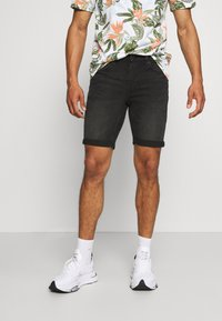 Only & Sons - ONSPLY LIFE - Denim shorts - black denim - 0